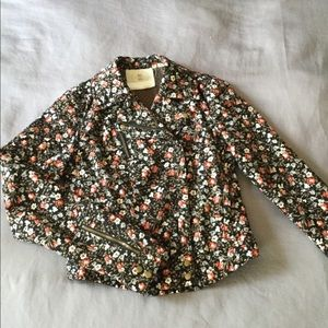 Anthro floral utility jacket